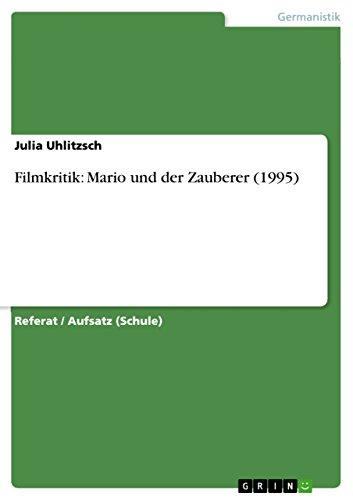 Filmkritik: Mario und der Zauberer (1995)