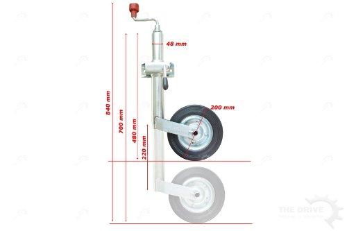 The Drive - Stützradsatz - AL-KO Stützrad mit Stahlblechfelge und Vollgummireifen inkl. Klemmhalter