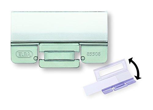 Preisvergleich Produktbild ELBA 100552070 Komfort-Sichtreiter vertic für Hängeregister 25 Stück aus PP Kunststoff mit Beschriftungsschildchen und aufklappbarer Rückwand farblos