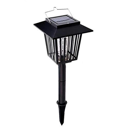 Sandy Cowper Solar Lights Tragbare Outdoor Solar Moskito Mörder Lampe 3 LED Anti Moskitos Licht Fliegen Insekt Outdoor Fliegen Insektenmörder Schädlingsbekämpfung Lampe 1 stücke 5 Watt (Schwarz)