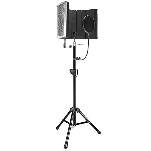 Neewer Professional Mikrofon Studio Aufnahme Zubehör beeinhaltet: NW-6 Mikrofon Isolierung Schild, Wind Screen Bracket Stand Pop-Filter für Akustische Aufnahme und Podcasting