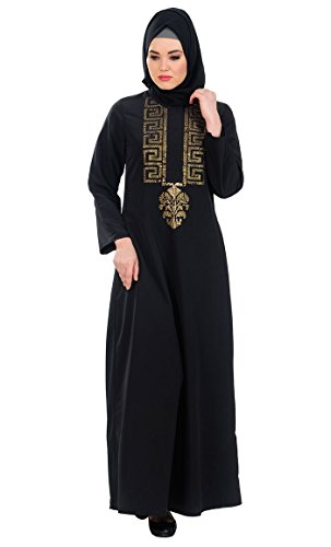 East Essence - Robe - Solid - Manches Longues - Femme Noir