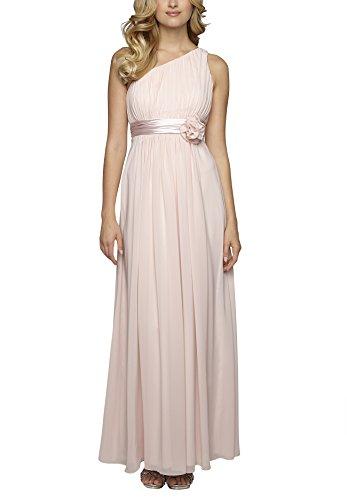 APART Fashion Damen One-Shoulder Kleid 50908, Maxi, Einfarbig, Gr. 36, Rosa (Puder)