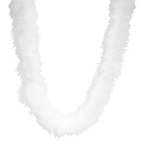 White Marabou Feather Boa 72