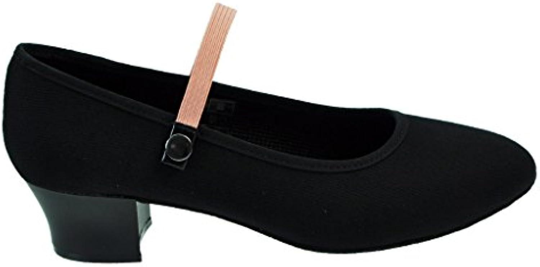Starlite Syllabus Canvas Character Shoe, Talón cubano  -