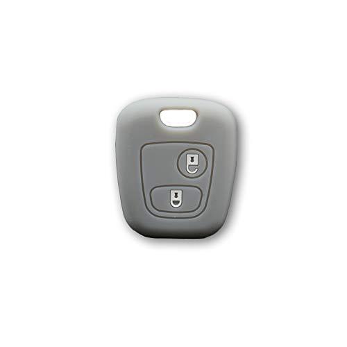 Oferta de Carcasa colorida de silicona suave para carcasa de llave, 2 botones para coche Toyota Aygo en 10 colores divertidos gris