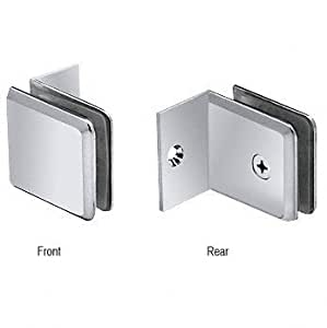 CRL Chrome Fixed Panel Beveled Clamp With Small Leg by C.R. Laurence