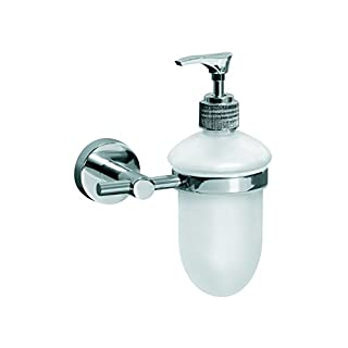 Aqua Chrome Concept Soap Dispenser, Zinc Silver, 8.9 x 12.4 cm