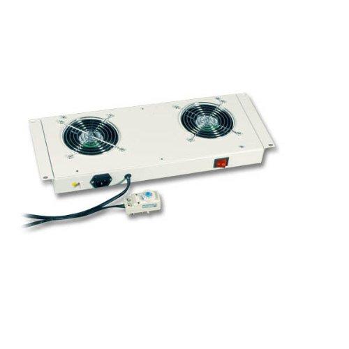 Empotrable Ventilador con 2ventiladores para red y Gabinetes de servidores