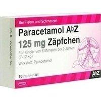 PARACETAMOL AbZ 125 mg Zäpfchen 10 St
