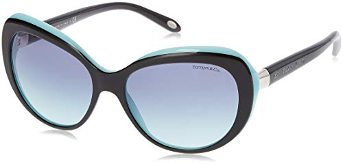 Tiffany 0ty4122 80559s 56, occhiali da sole donna, nero (black/blue/blueegradient)