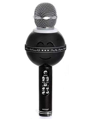 Bluetooth-Mikrofon für Handy Wireless Karaoke mit TF-Karte Radiofunktion High Fidelity Reverb Charging (Farbe : Schwarz) - Fidelity Electronics