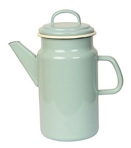 Dexam 2 litros Acero esmaltado Vintage Home cafetera, Verde