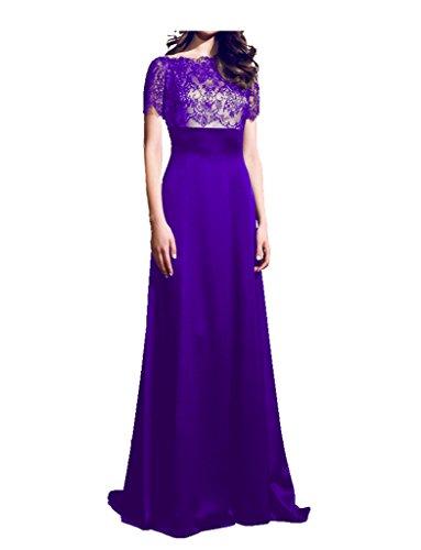 jydress femmes robes de soirée en satin dentelle Soirée et Party Peignoir 2016pour Mariée Violet - Violet