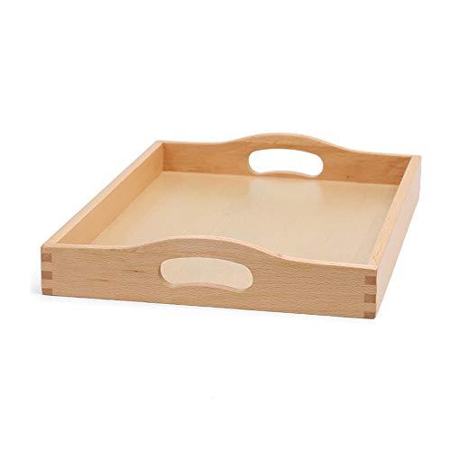 tt, Kreative Teetablettsnackaufbewahrung/Organisationsfruchtbesteckplatte des rechteckigen hölzernen Umhüllungsbehälters Tabletts (Size : L-42.5 * 32 * 6cm) ()