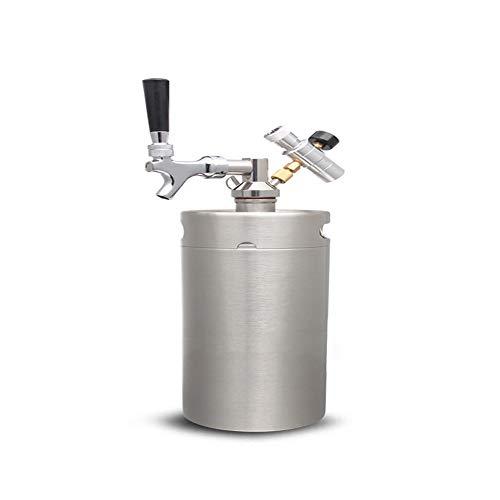 ahl Pressurized Growler Barrel CO2 Zylinder Regler, Dispenser für Container Home Craft Draft Bier,5L ()