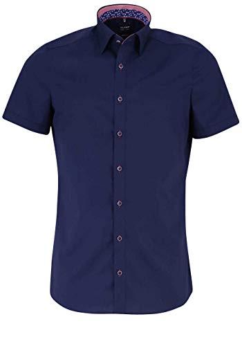 OLYMP Level Five Body fit Hemd extra Langer Arm Stretch Nachtblau Größe 41