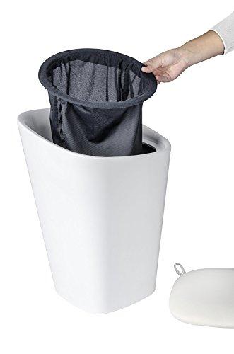 Wenko 21988100 Candy Badhocker mit abnehmbarem Wäschesack, Fassungsvermögen, 20 L, eckig, Kunststoff, 35 x 50 x 35 cm, weiß - 3