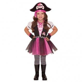 Amscan International Children Pirate Costume (Dazzling (Pink Pirate Halloween Kostüme)