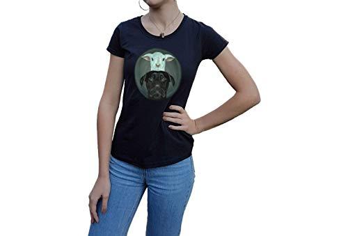 Shirt T-Shirt Hund Schaf Künstler Tier Haustier Hut Geschenk Damen Kinder