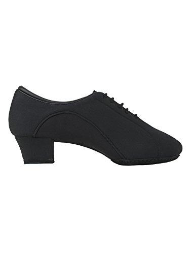 2434 Rumpf Herren Latein Standard Salsa Tango Tanzschuh Neopren Cuban Chromledersohle Absatz 4 cm Farbe schwarz Schwarz