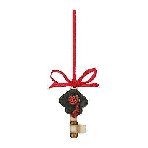 Thun® - chiave con cappello laurea e coccinella - idee regalo - ceramica - i classici