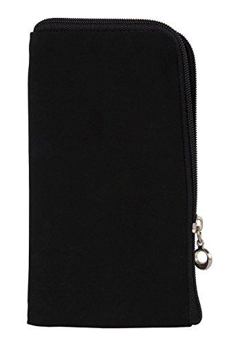 Reissverschluss Handytasche Softcase passend für Acer Liquid Z410 Plus Handy Schutz Hülle Slim Case Cover Etui schwarz