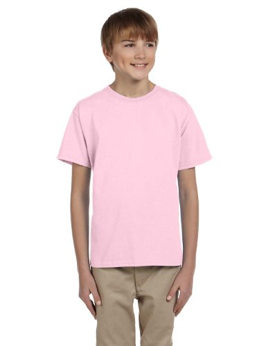 Fruit of the Loom Unisex-Kinder T-Shirt aus Baumwolle Rosa - Rosa