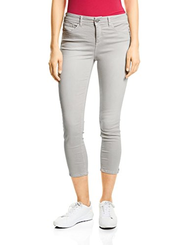 Street One Damen Slim Jeans 371337 York, Grau (Grey Soft Wash 11386), W30/L26