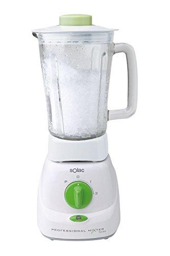 Solac BV5710 - Licuadora 1,5 L, Batidora de vaso, Blanco, Vidrio, Acero inoxidable, De plástico