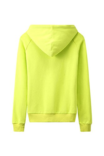 Manches longues Star Yacun féminin imprimé à capuche Sweatershirt green