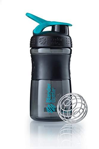 BlenderBottle Sportmixer Tritan Shaker | Protein Shaker | Wasserflasche | Diät shaker Black - Teal (20oz / 590ml) (20 Oz-kunststoff-klar-cups)