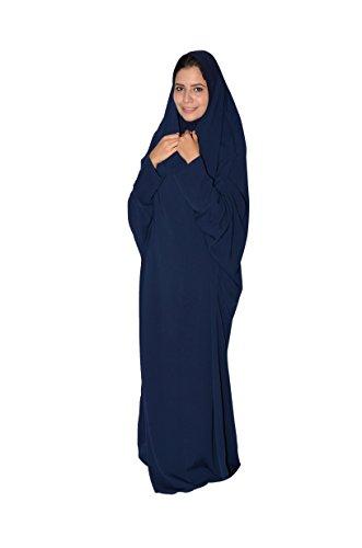 Egypt Bazar Zweiteiliger Isdal mit Kopftuch und Umhang, Islamische Gebetskleidung (Nachtblau)