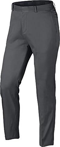 Nike Flat Front Pantalon Long de golf, homme, Homme, Flat Front, Gris (021)
