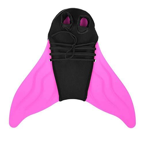 WXH 2 STÜCKE Flosse Meerjungfrau Schwanz, tauchen Flossen Flossen, Training Tauchen Schwimmflosse, zum Schwimmen, für Kinder und Erwachsene, Elastizität Bequem Atmungsaktiv