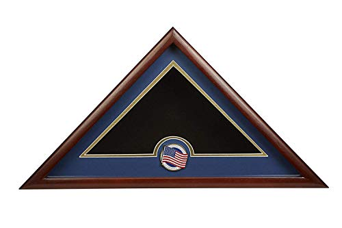YANAN Allied Frame US Patriotische Internment Burial Flag Display Case mit amerikanischer Flagge Medaillon a