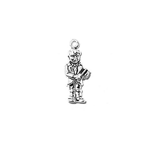 925 Sterlingsilber-Charme Religiöse Jungen Erstkommunion Charm von Silber