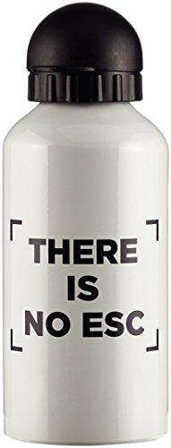 Preisvergleich Produktbild You Are Wanted Trinkflasche Weiß There is no Esc
