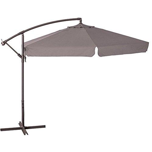 Verdelook ombrellone da giardino con braccio Ø 3 metri colore tortora