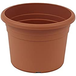 greemotion Pot de fleurs rond en plastique Ø 45cm 26L - Pot pour plantes extérieures et intérieures - Pot de jardin couleur terre cuite