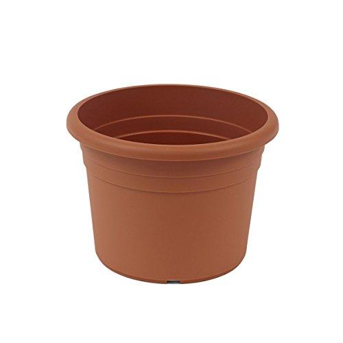greemotion Pflanzkübel Fiona, UV-Beständiger Blumentopf aus Kunststoff, Pflanzgefäß mit Bodenlöchern, Volumen ca. 26 l, ca. Ø 45 x H 31,5