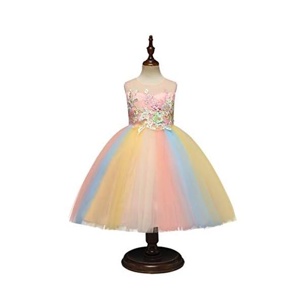 Vectry Vestido Niña Disfraz Niña Bebé Niñas Flores Tulle Princesa Vestido Fiesta Ropa Formal Tutú Princesa Vestido Ropa… 2