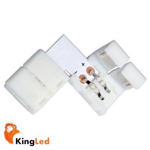 KingLed - Connettore Doppio ad Angolo Senza Filo per Strisce