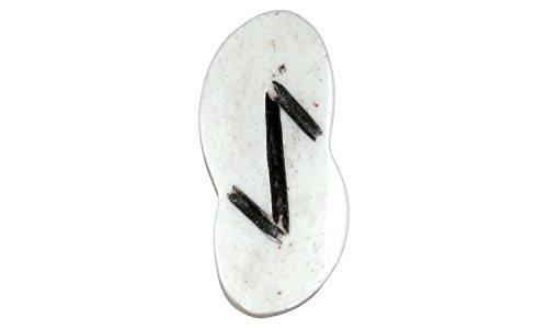 Erlebnis-Mittelalter Runenanhänger, geschnitzt aus Kamelknochen (Runenanhänger Eihwaz