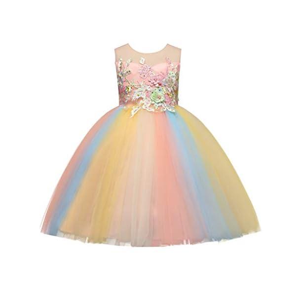 Vectry Vestido Niña Disfraz Niña Bebé Niñas Flores Tulle Princesa Vestido Fiesta Ropa Formal Tutú Princesa Vestido Ropa… 1