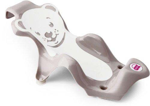 Babysun Nursery Transat de Bain avec 4 Ventouses Buddy Marron clair