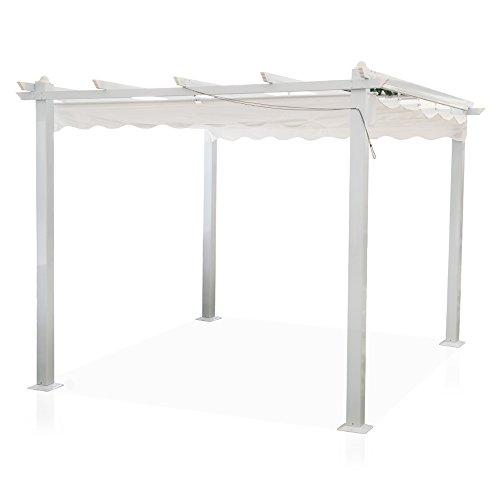 Gazebo Astoria 3x3m pali alluminio copertura scorrevole pergola...