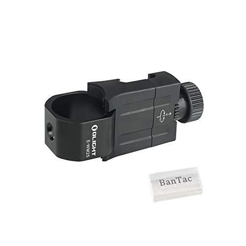 Olight E-WM25 Taschenlampe montieren PC & Aluminiumlegierung Kompatibel mit allen Taschenlampen mit einem Gehäusedurchmesser von 24,4 mm bis 27,4 mm, mit BanTac Batteriefach