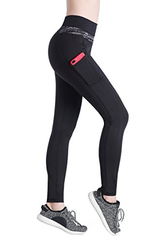 EAST-HONG-Womens-Sports-Leggings-High-Waist-Yoga-Pants-Running-Tights-2-Side-Pockets