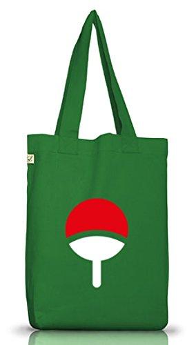 Shirtstreet24, Familie Uchiha, Jutebeutel Stoff Tasche Earth Positive (ONE SIZE) Moss Green